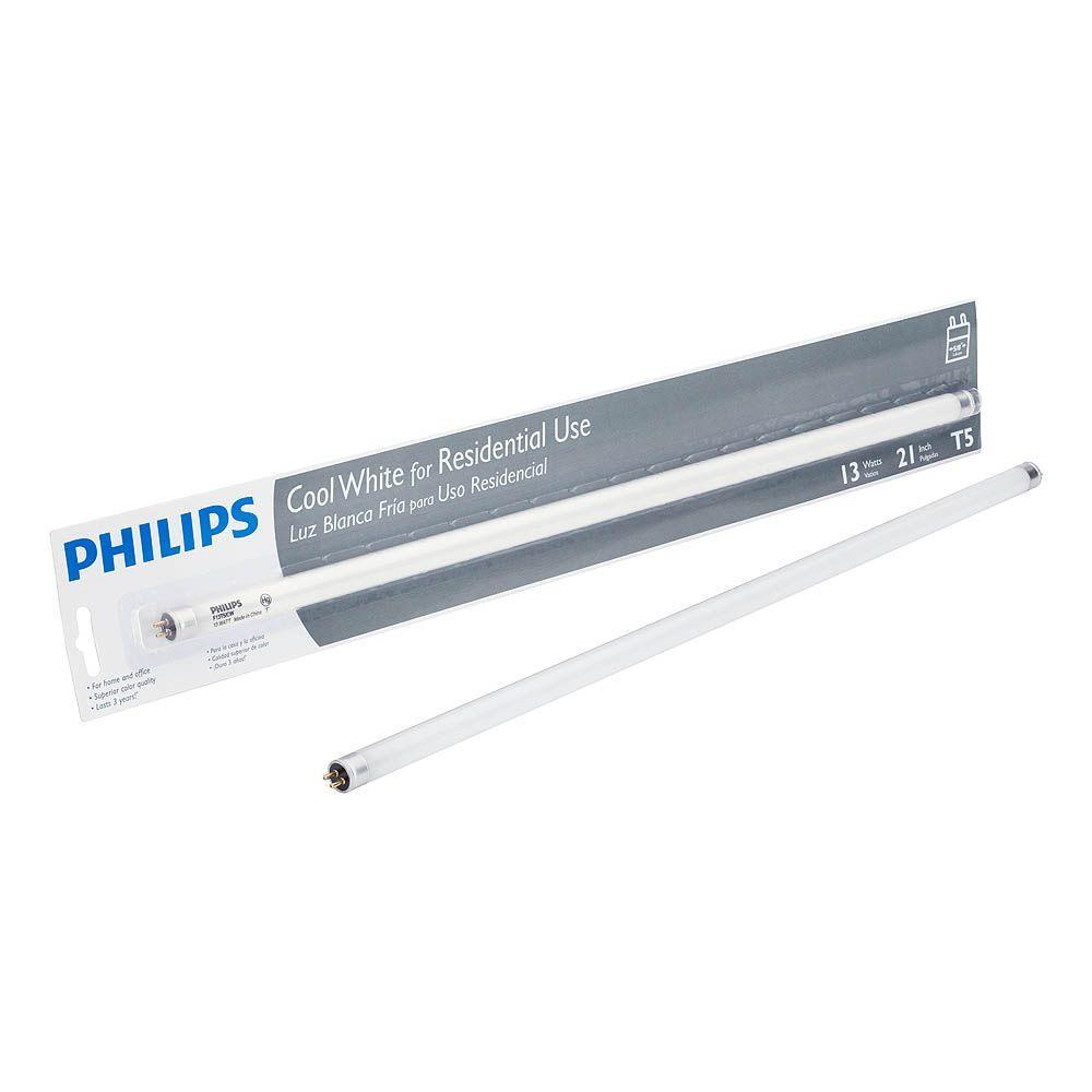 13 Watt 21 In Linear T5 Fluorescent Light Bulb Cool White 4100k