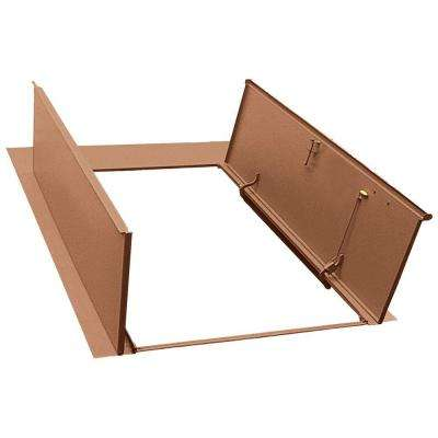 Sloped Wall 63.25 in. x 77.5 in. Primed Steel Cellar Door