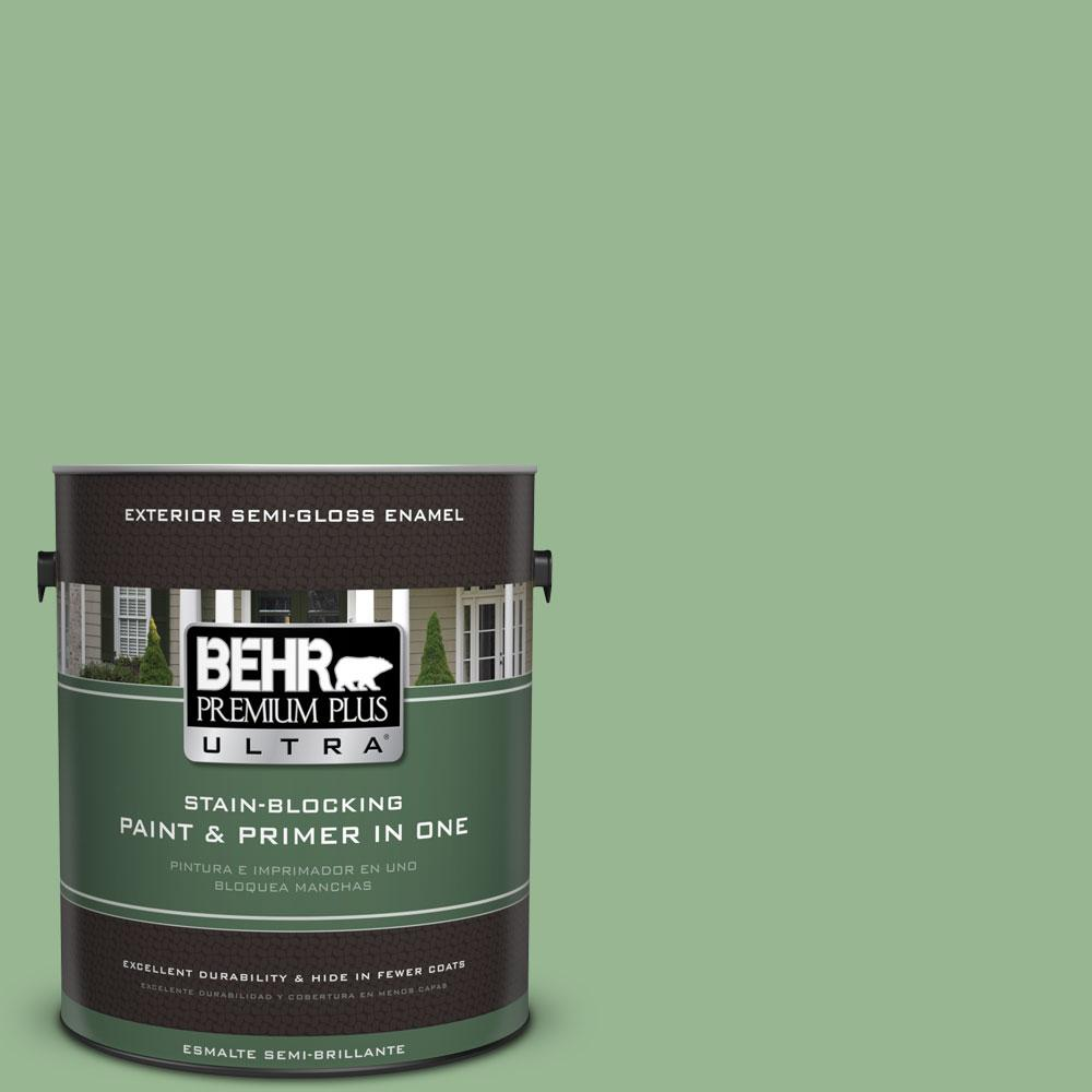 BEHR Premium Plus Ultra 1-gal. #M400-4 Brookview Semi-Gloss Enamel Exterior Paint