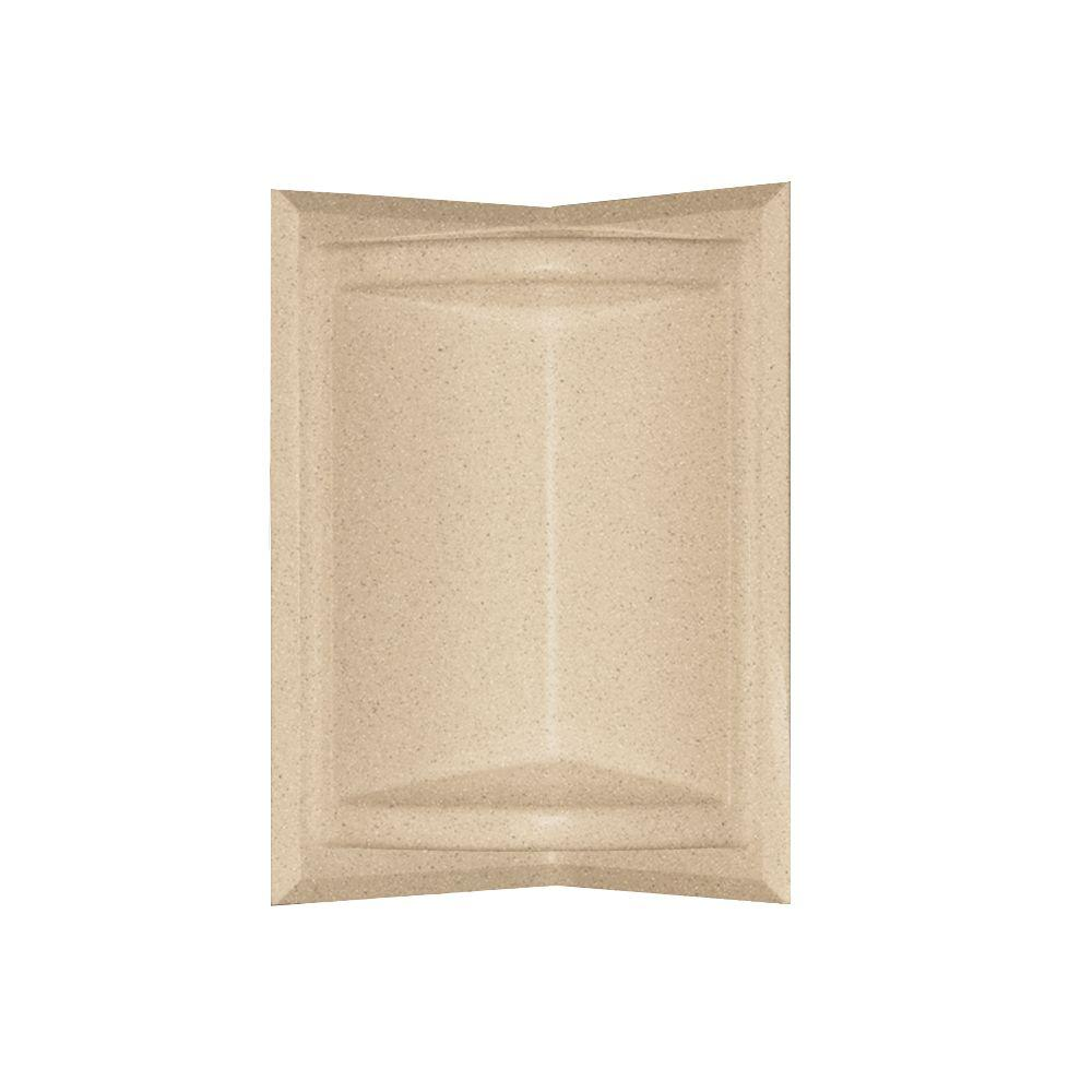 null Corner-Mount Solid Surface Soap Dish in Bermuda Sand