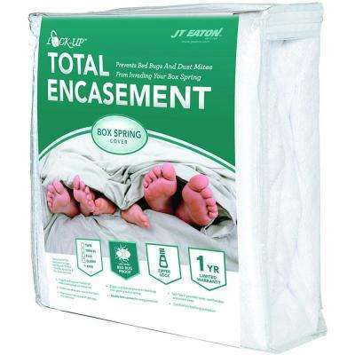 Lock-Up Twin XL Size Total Box Spring Encasement for Bed Bug Protection