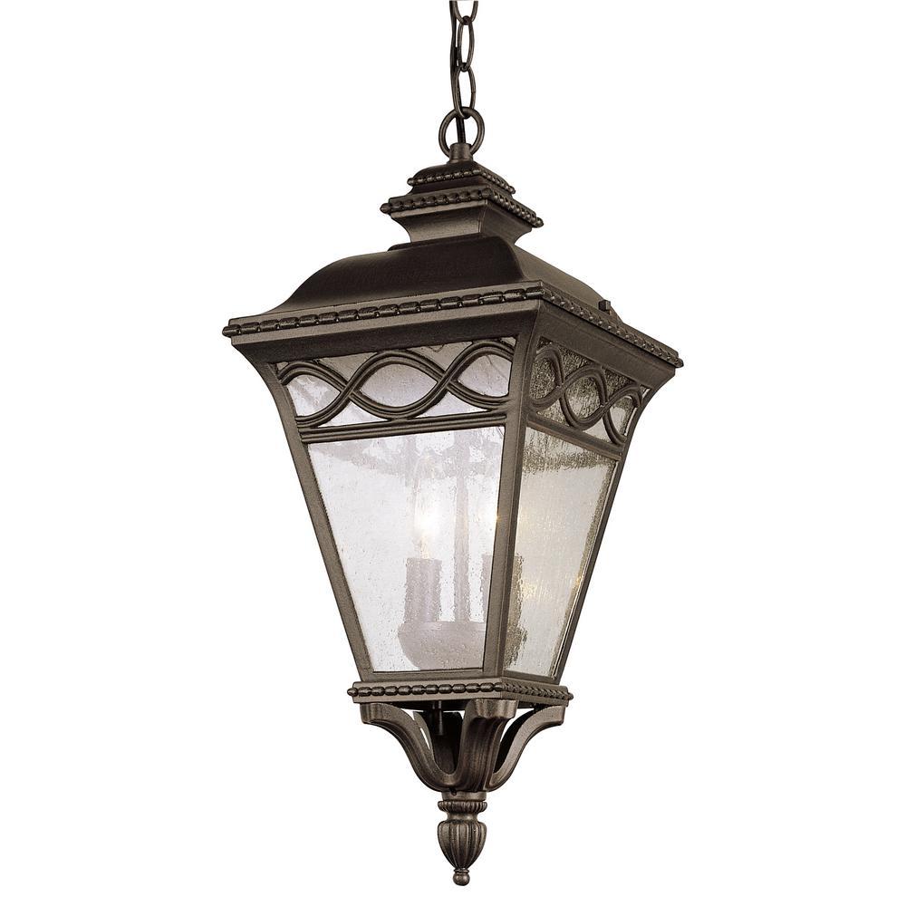 Candlewood Black Outdoor 3-Light Hanging Lantern