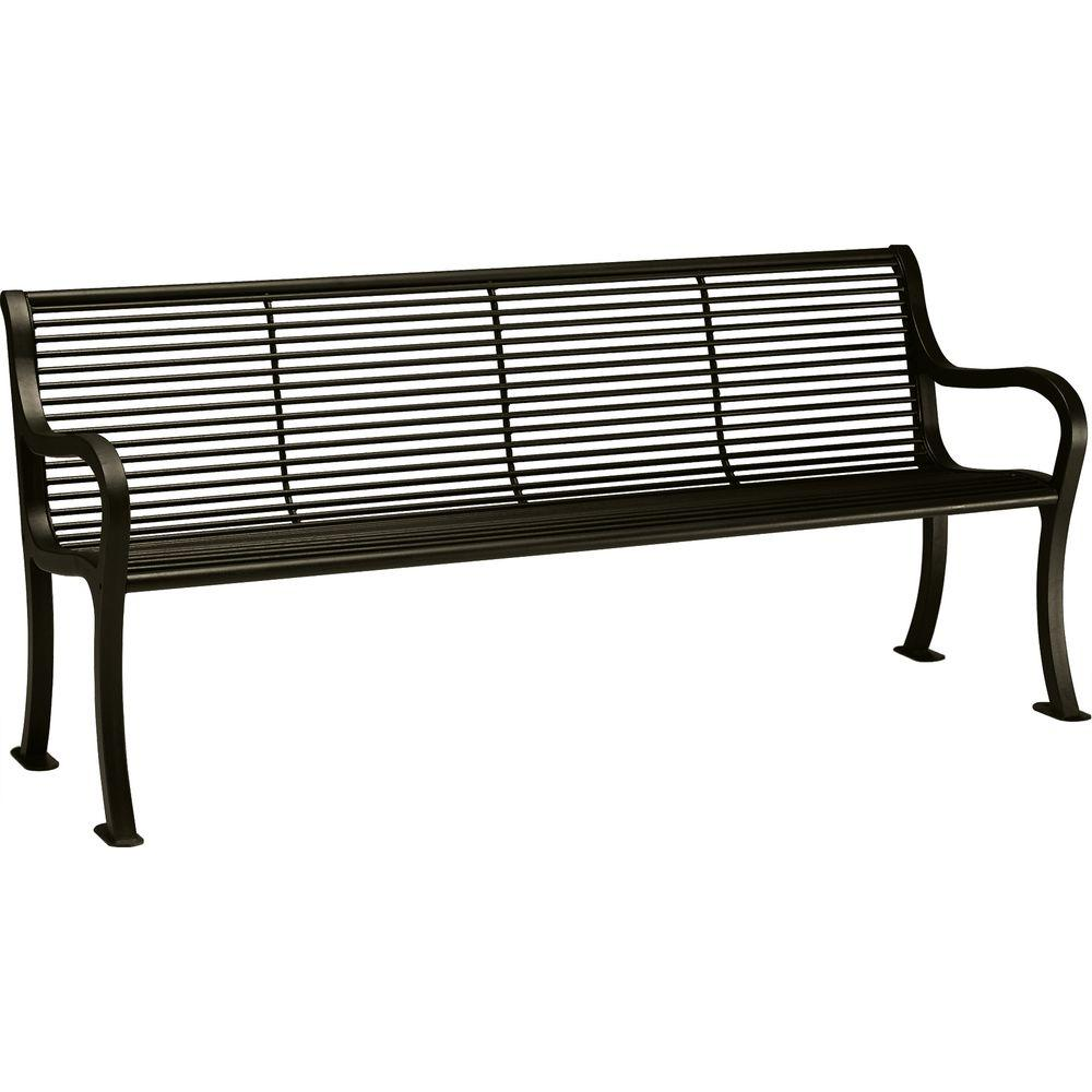 Tradewinds Textured Bronze Bench Back