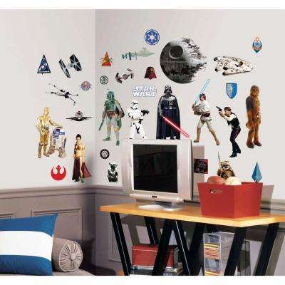 10 in. x 18 in. Star Wars Classic 31-Piece Peel and Stick Wall Decal