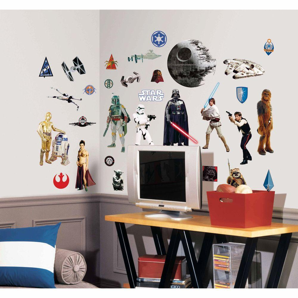 10 in. x 18 in. Star Wars Classic 31-Piece Peel and