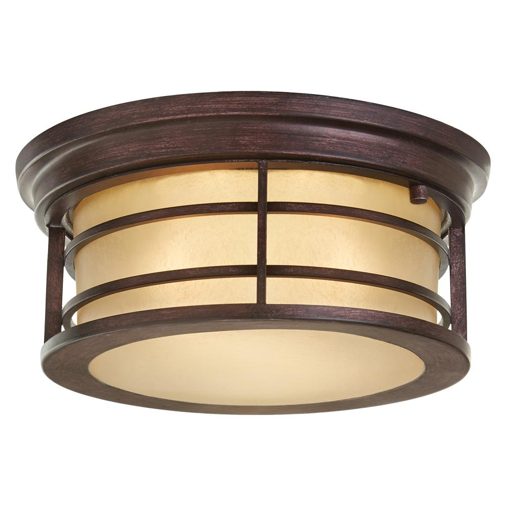 Home Decorators Collection 2 Light Bronze Outdoor Ceiling