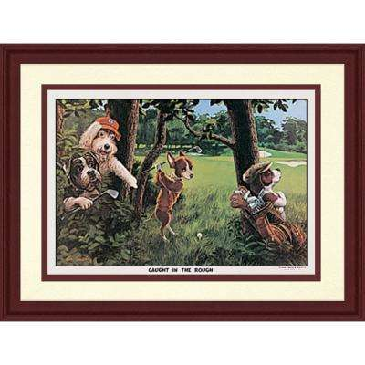 11.5.in x 20.5.in''Golfing Dogs III'' By PTM Images Framed Printed Wall Art