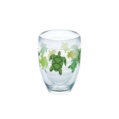 Turtle Pattern 9 oz. Double-Walled Tritan Stemless Wine Glass