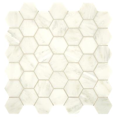 Premier Accents Cloud Hexagon 12 in. x 12 in. x 8 mm Stone Mosaic Floor and Wall Tile (1 sq. ft. / piece)