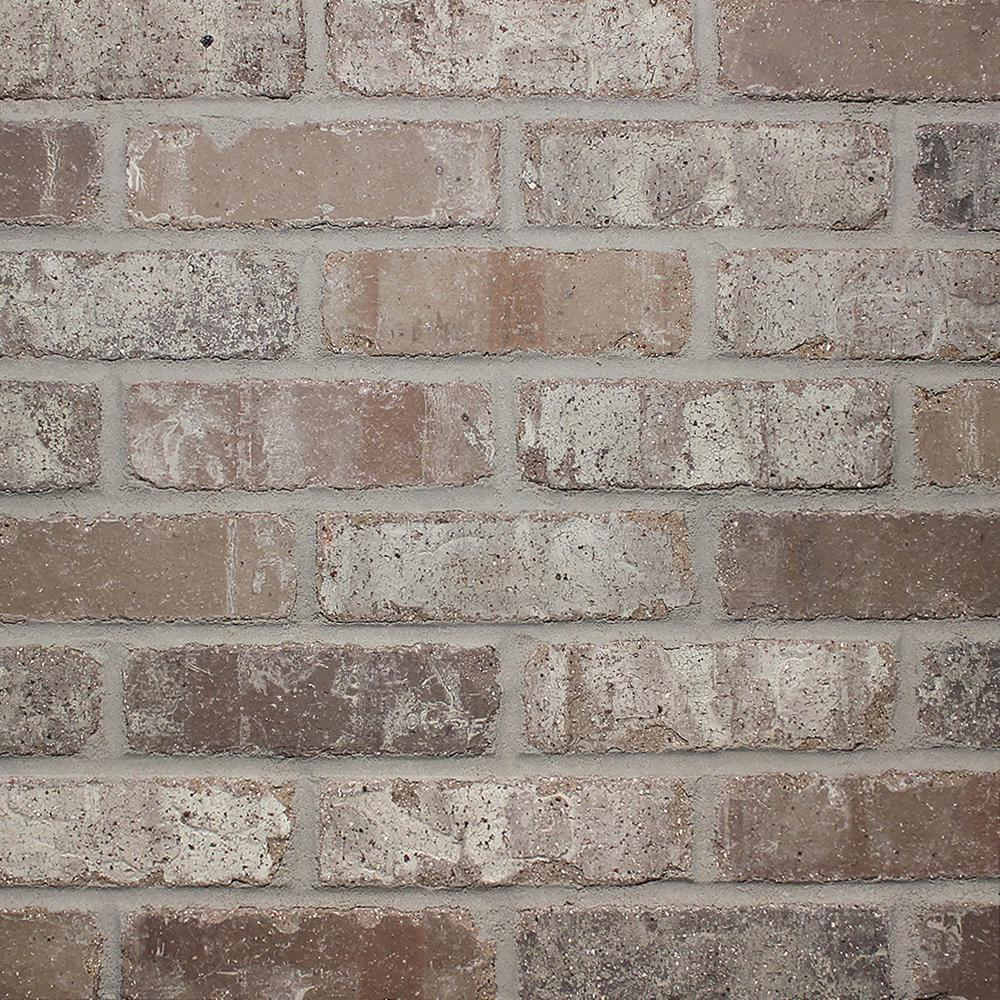 OLDMILLBRICK Old Mill Brick Brickwebb Sheets Flats Rushmore 28 in. x 10.5 in. x 13mm Clay Thin Brick Mesh-Mounted Mosaic Tile (8.7 sq. ft. / case), Multi-color