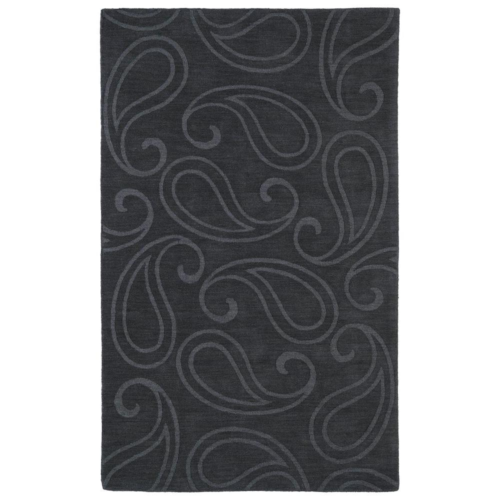 Imprints Classic Charcoal 8 ft. x 11 ft. Area Rug