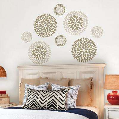 Neutral Chrysanthemum Wall Decal