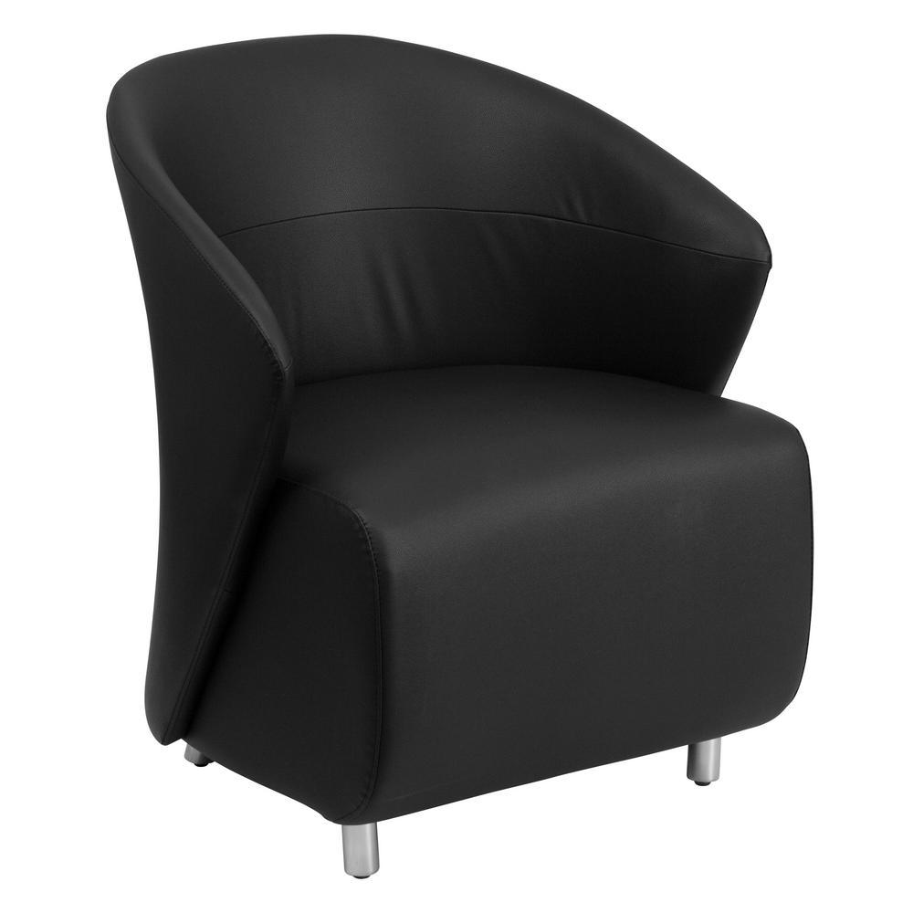 FLASH Black Leather Reception Chair