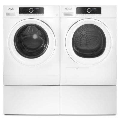 12 in. White Laundry Pedestal for Front Load Washer and Dryer