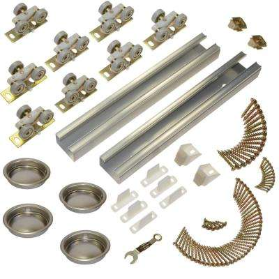 100SD Series 96 in. Track and Hardware Set for 4-Door Bypass Doors