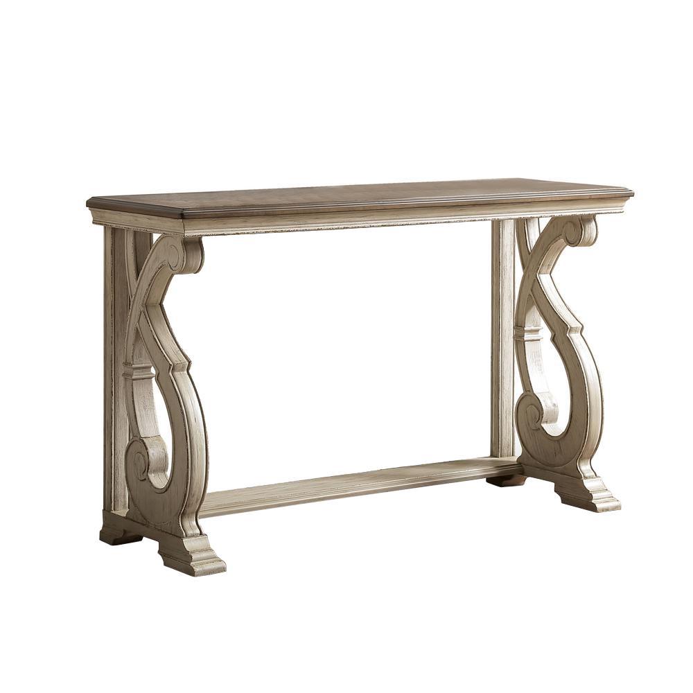 Myrtle Dark Oak and White Wash Sofa Table