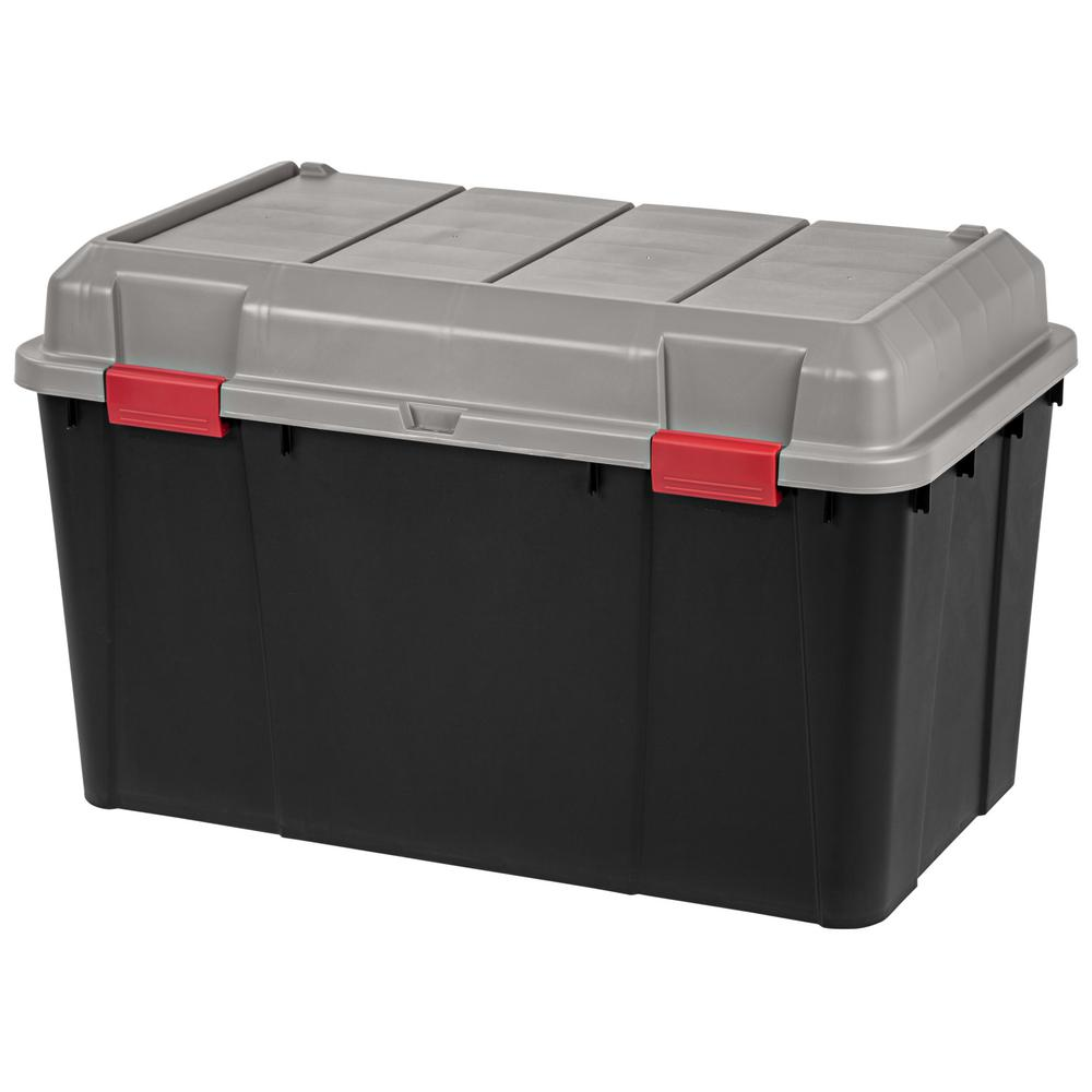 138 Qt. Storage Tote in Black (3-Pack)