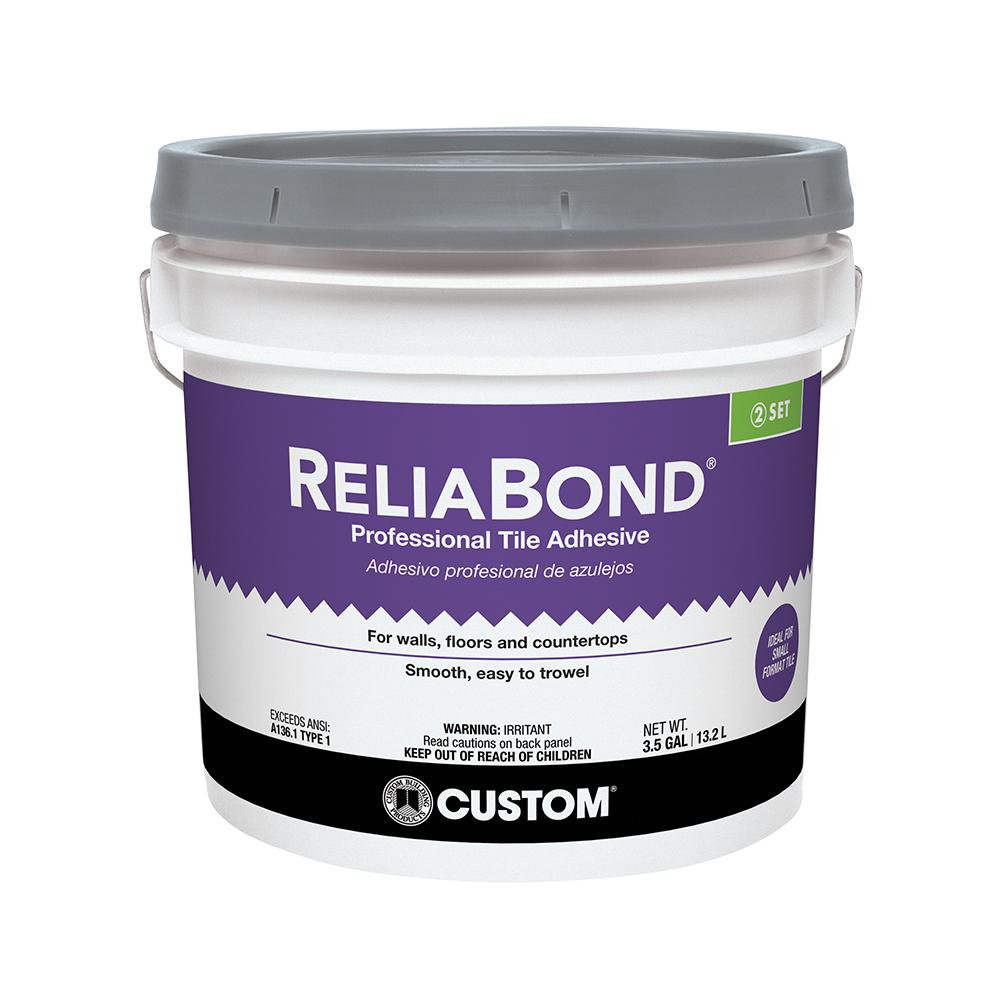 Custom Building S Reliabond 3 5 Gal Ceramic Tile Adhesive