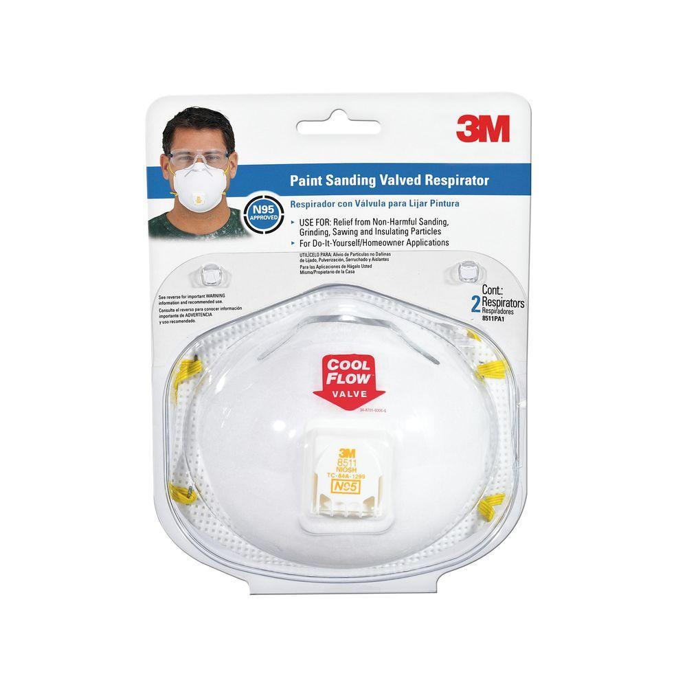 N95 Paint Sanding Valved Respirator Masks (2-Pack) (Case of 6)