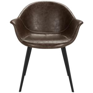 Superb Safavieh Dublin Dark Brown Black Leather Dining Chair Set Caraccident5 Cool Chair Designs And Ideas Caraccident5Info