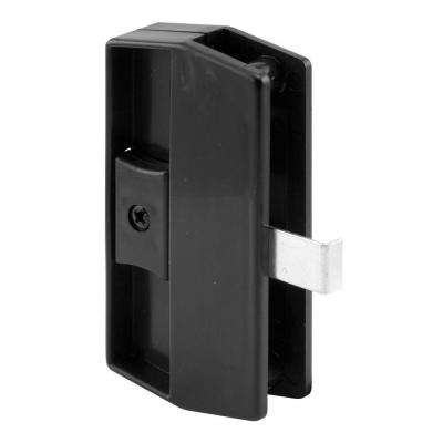 Black Academy Snap-In Sliding Screen Door Latch and Pull
