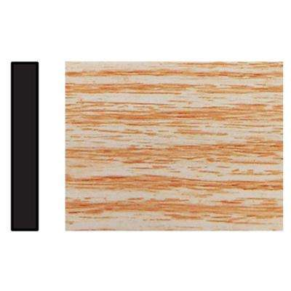 1/4 in. x 1-3/4 in. x 96 in. Polystyrene Clearwood Lattice Moulding