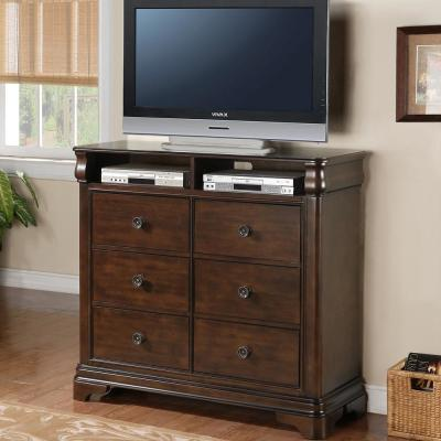 Conley Cherry 6-Drawer Media Chest