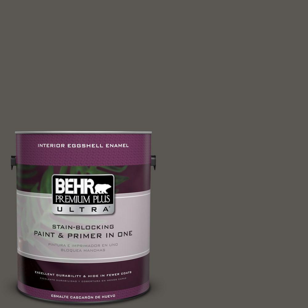 BEHR Premium Plus Ultra 1-gal. #BXC-17 Dominant Gray Eggshell Enamel Interior Paint