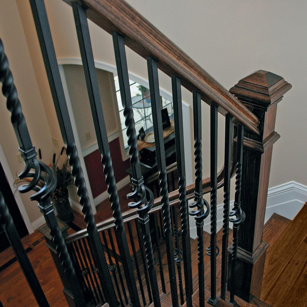 17 best images about classic stairs balusters and newels.htm stair parts 44 in x 5 8 in metal satin black single twist  stair parts 44 in x 5 8 in metal