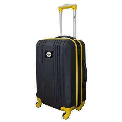 NFL Pittsburgh Steelers 21 in. Hardcase 2-Tone Luggage Carry-On Spinner Suitcase
