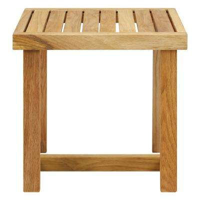 18 in. 1-Piece Natural (Oil) Shower Bench with Solid American White Oak
