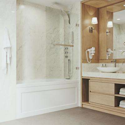 Rialto 34 in. Bathtub Door with .3125 in. Clear Glass and Chrome Hardware