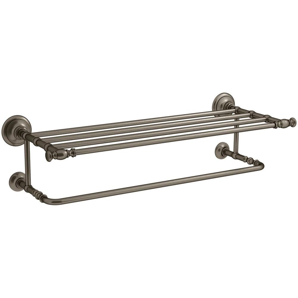 Artifacts Hotelier Towel Rack in Vintage Nickel