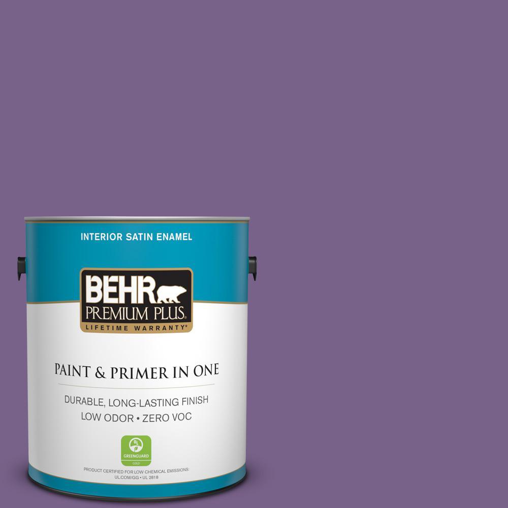 BEHR Premium Plus 1-gal. #M570-6 Notorious Satin Enamel Interior Paint