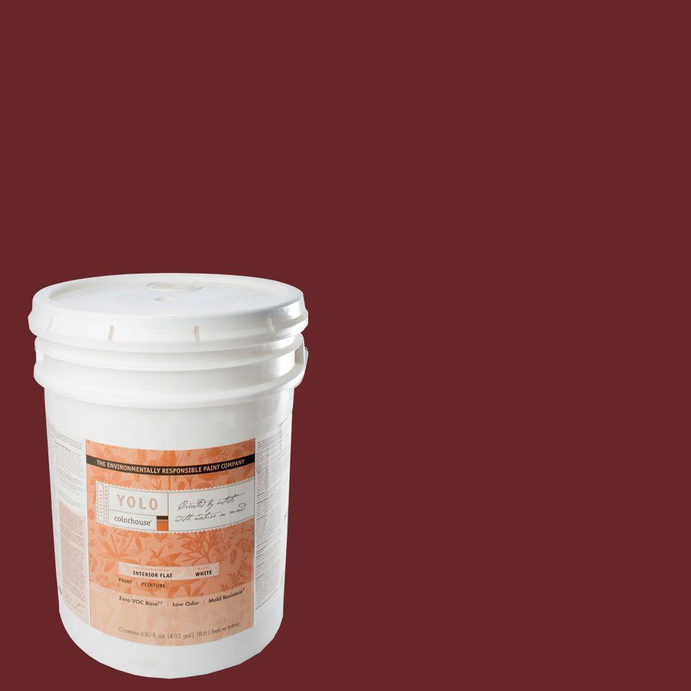 YOLO Colorhouse 5-gal. Wood .04 Flat Interior Paint-DISCONTINUED