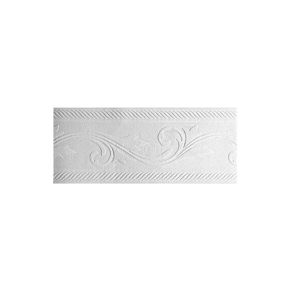 York Wallcoverings 7 in. Patent Decor Abstract Tulip Paintable Border