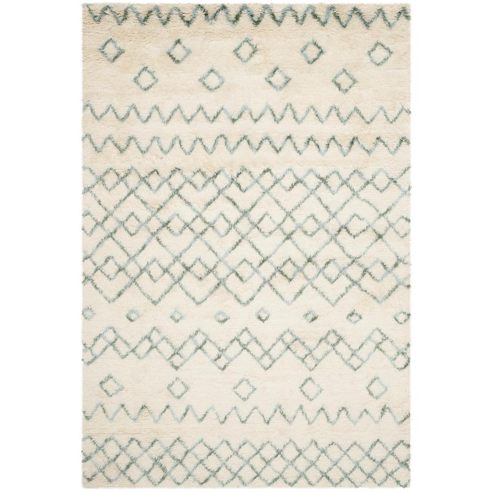 Casablanca Ivory/Blue 5 ft. x 8 ft. Area Rug