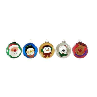 100 mm Holiday Character Christmas Ornament Assortment (15-Pack)