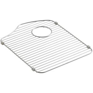 Octave 14.375 in. x 18.3125 in. Kitchen Sink Basin Rack for Right-Hand Basin in Stainless Steel