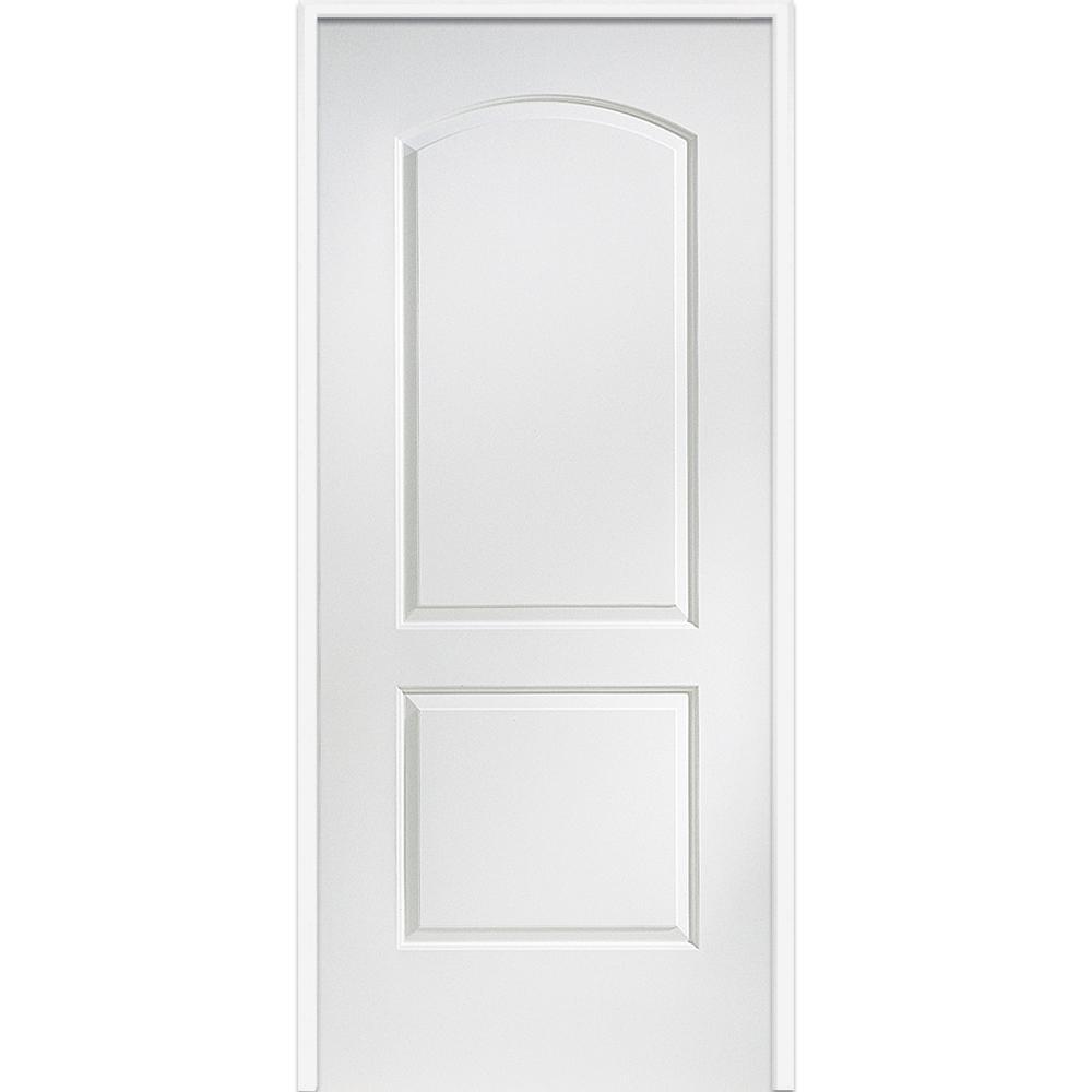 Mmi door 34 in x 80 in smooth caiman left hand solid - Interior prehung solid core doors ...
