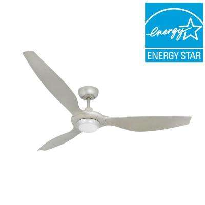 Vogue Plus 60 in. LED Indoor/Outdoor Brushed Nickel Ceiling Fan