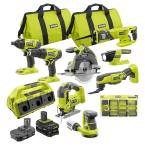 ONE+ 18V Cordless 9-Piece Combo Kit with (3) Batteries, 6-Port Charger, 120-Piece Drill and Impact Rated Drive Kit