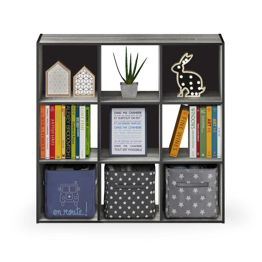 Pelli French Oak Grey Cubic Storage Cabinet