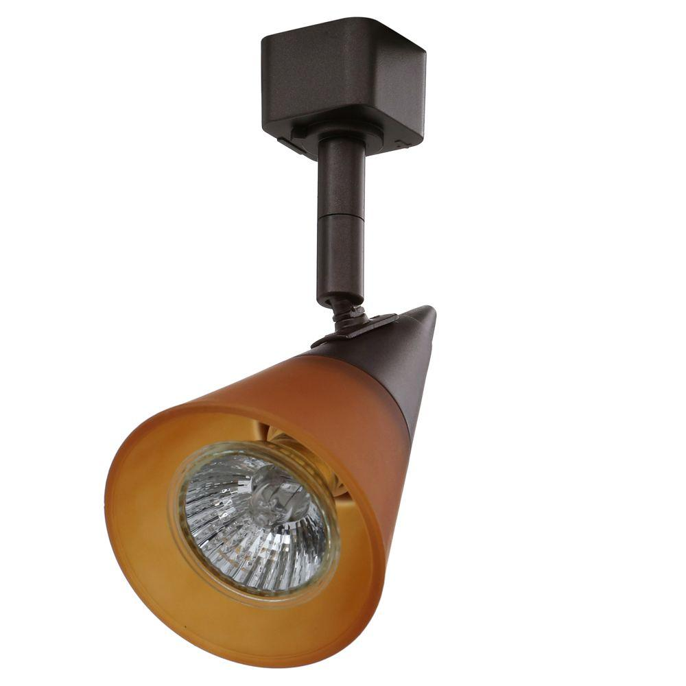 Juno Gl Cone Gu10 Satin Chrome Track Lighting Head R716 Sc Oplg The Home Depot