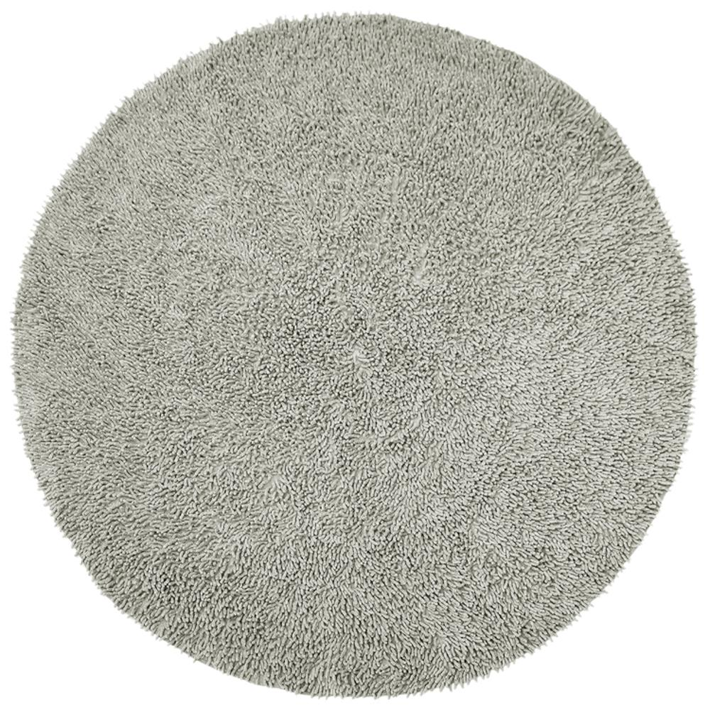 Grey Chenille Twist 3 Ft X Round Accent Rug Chs3005r The Home Depot