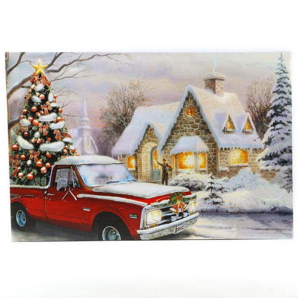Holidays Truck Canvas Print Wall