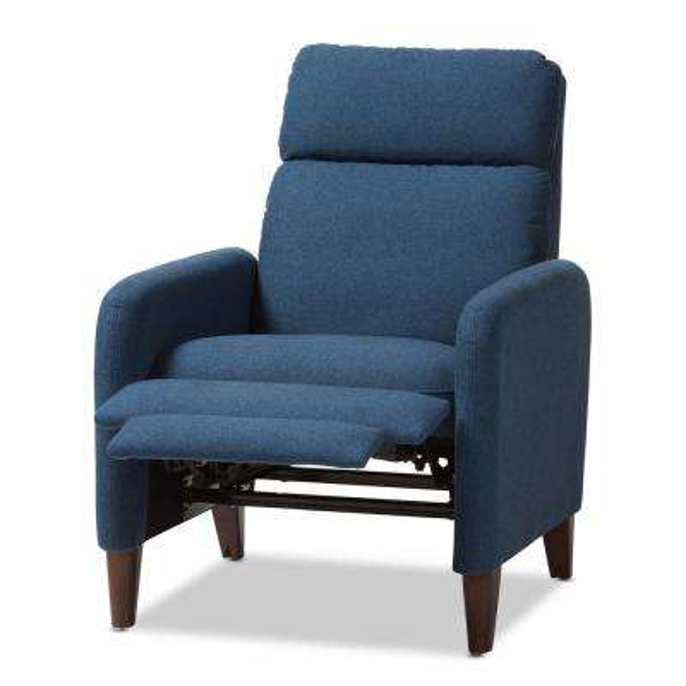 Casanova Blue Fabric Upholstered Recliner