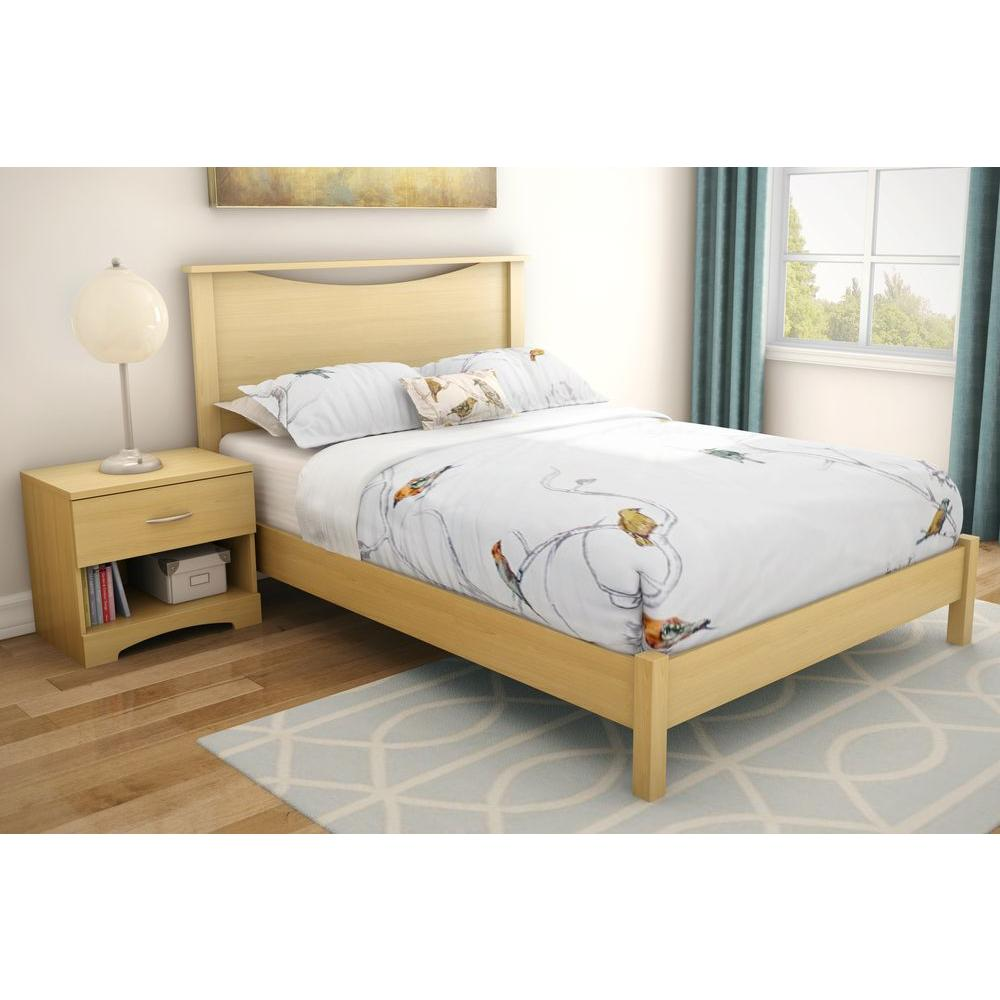 South Shore Step One Full-Size Headboard In Natural Maple