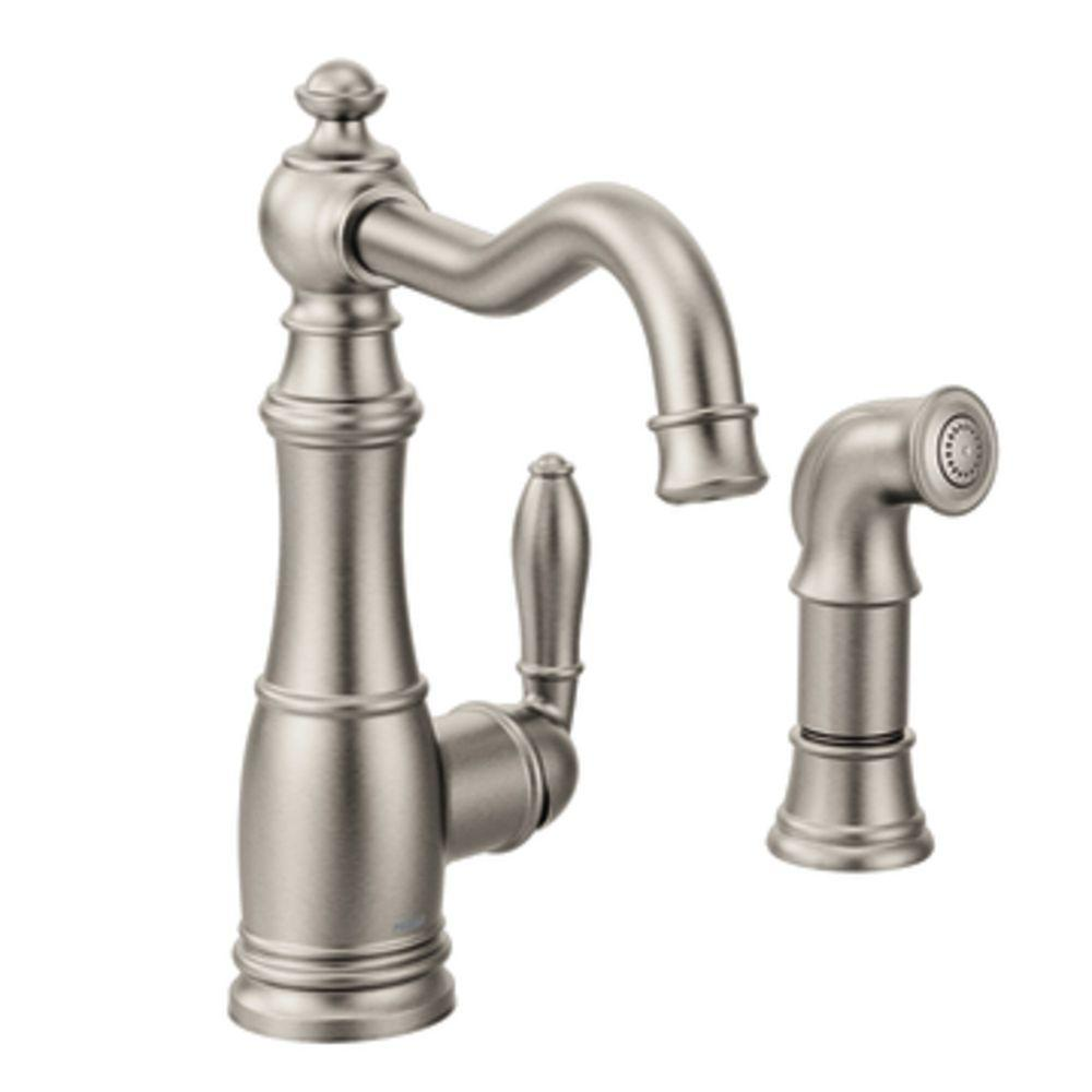 Moen Weymouth Singlehandle Standard Kitchen Faucet With. Kitchens With Antique White Cabinets. Polish For Kitchen Cabinets. Home Kitchen Cabinets. Pictures Of Dark Wood Kitchen Cabinets. White Glass Kitchen Cabinets. Kitchen Wardrobe Cabinet. Omega Kitchen Cabinets Prices. Kitchen Cabinet Bookshelf