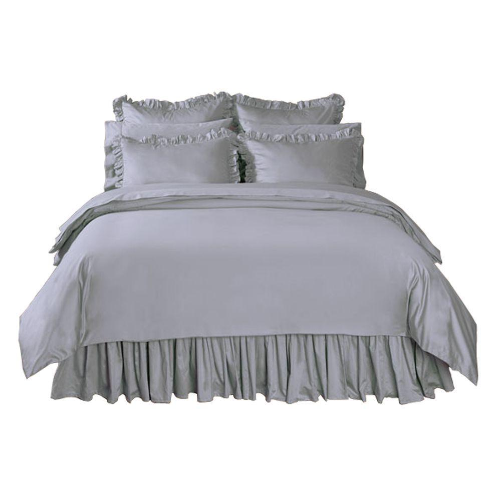 Home Decorators Collection Solid Grant Gray Full/Queen Duvet
